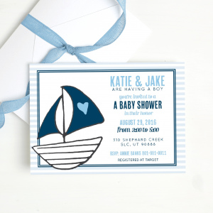 Shop Here for Customizable Gender Reveal Baby Shower Invitations
