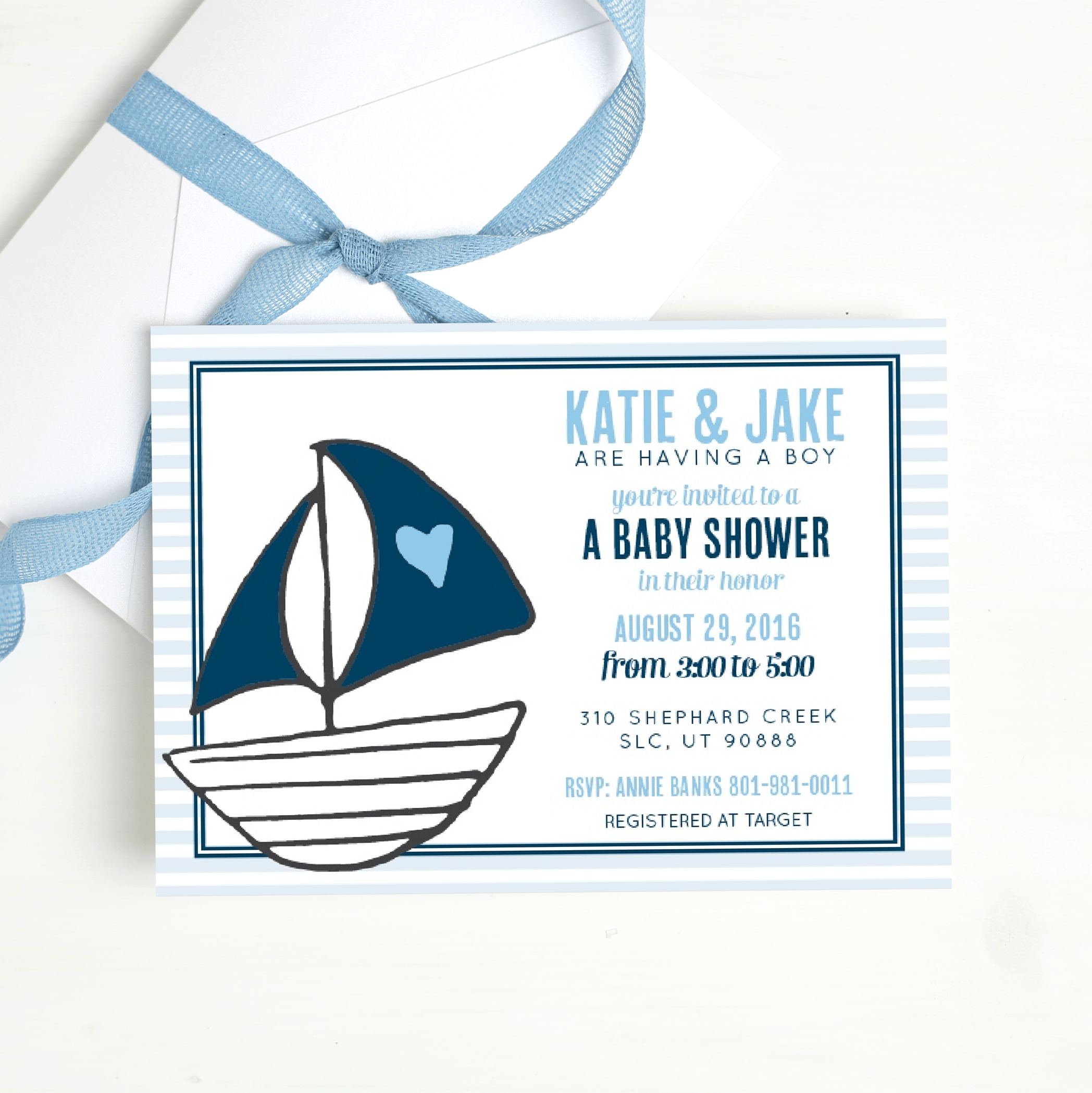 Customizable Gender Reveal Baby Shower Invitations
