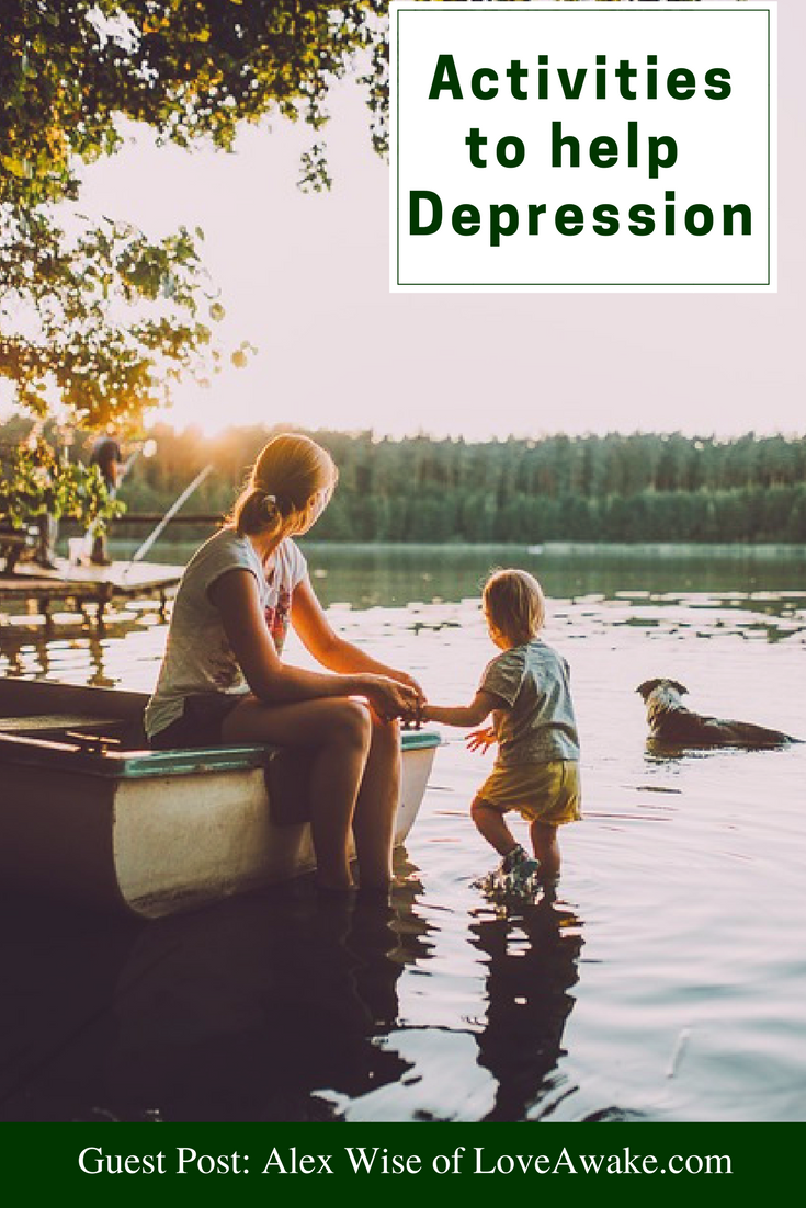 Fab Guest Post by Alex Wise of LoveAwakes.com | activitiestohelpdepression | beatdepression | exercisebenefits |