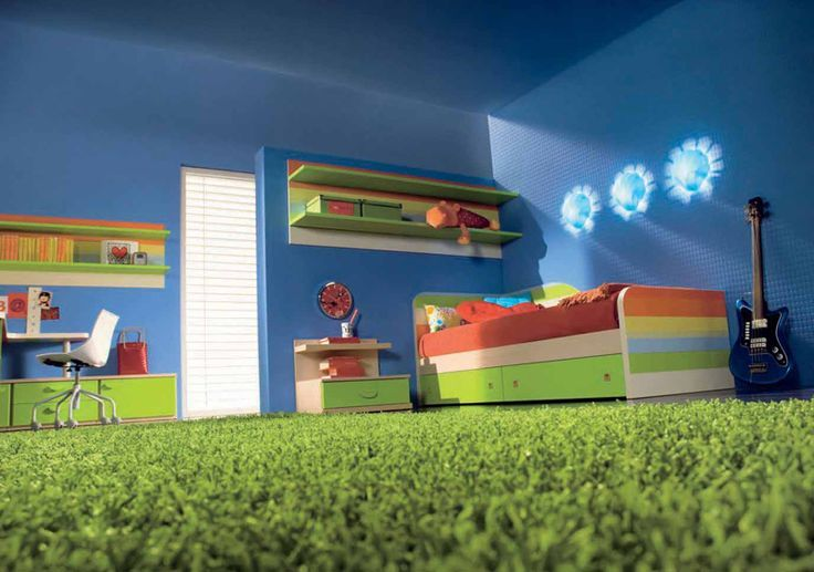 Kids Bedroom with Artificial Grass
