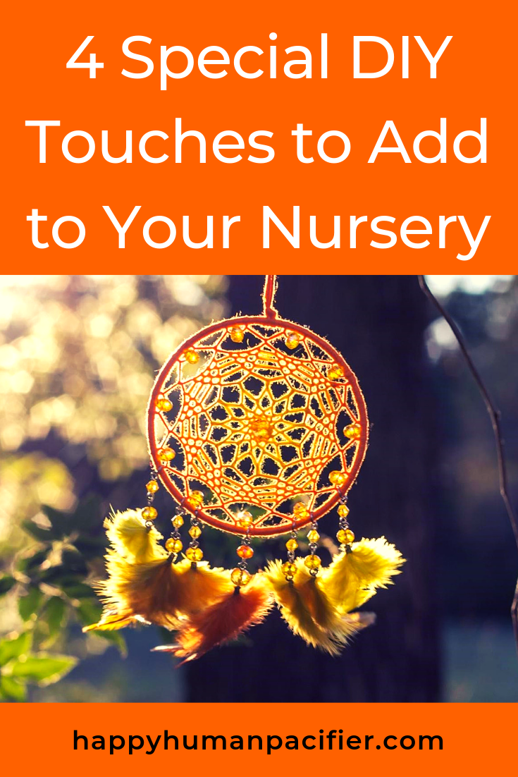 Here are some fun, easy ways to add some gorgeous DIY touches to your nursery, Thanks to Brenda Kimble. #DIYTouchestoAddtoYourNursery #HomeDecor #DIYDecor