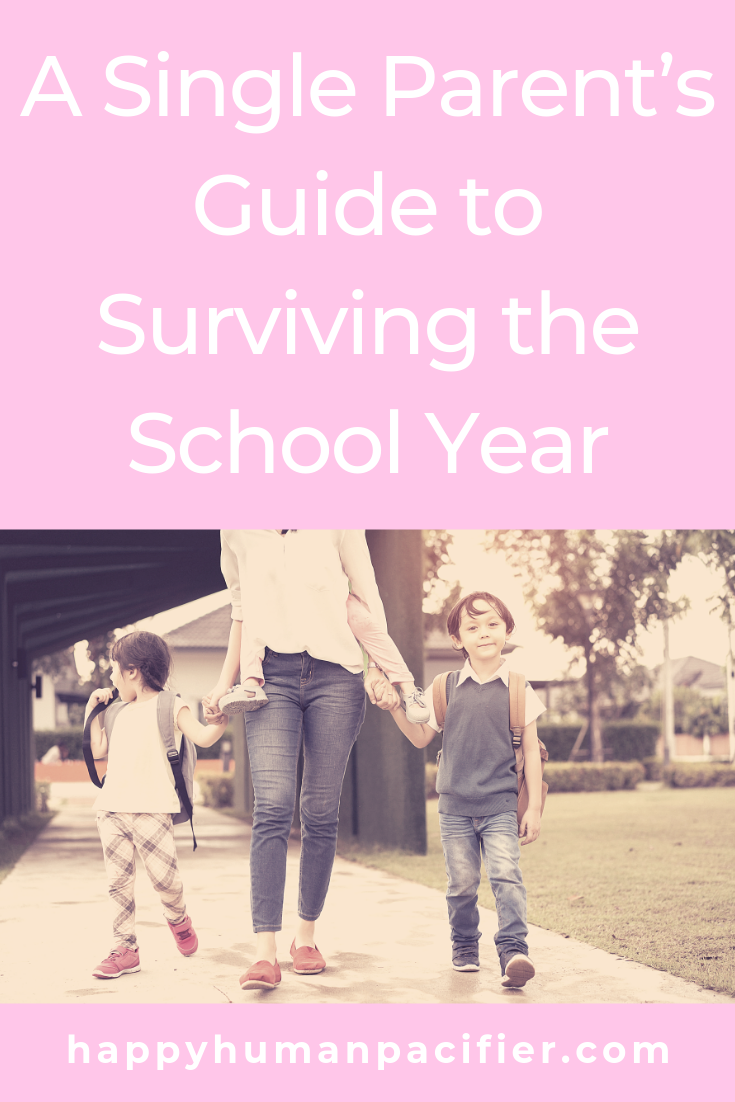 Being a single Mom or Dad isn't easy. Here are a few things you can do to make the school year go more smoothly.  Guest Post by Brenda Kimble. #singleparenting #survivingtheschoolyear #guestpost
