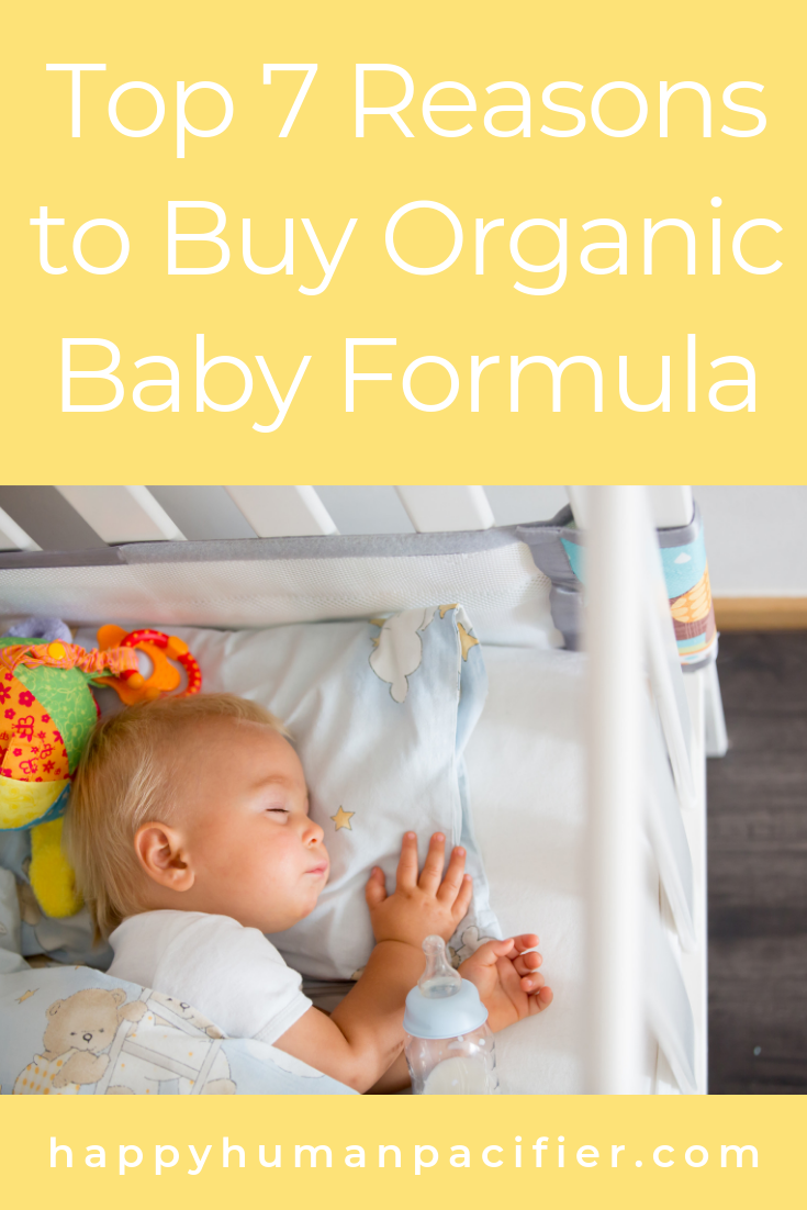 We all know the reasons to breastfeed but what happens when you can't? Here are our Top 7 Reasons to Buy Organic Baby Formula. #buyorganicbabyformula #organicformula #whywomencantbreastfeed #truelowmilksupply